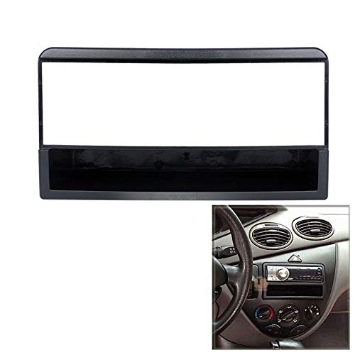 HUOGUOYIN Marco de DVD para coche, 1 DIN, panel de DVD, salpicadero de coche, marco de audio para Ford Fiesta/Focus 1DIN (nombre del color: negro)
