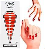 ManiBoom 26 Tiras de Uñas - Pegatinas Decorativas Para Uñas Semipermanentes - Calcomanías Nail Polish Autoadhesivas - Nails Stickers Adhesivos de Esmalte(Rojo Picante - Rojo Bermellón)