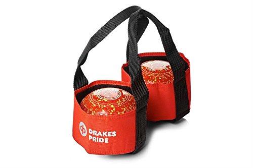DrakesPride Tasche für 2Bowls-Kugeln rot rot