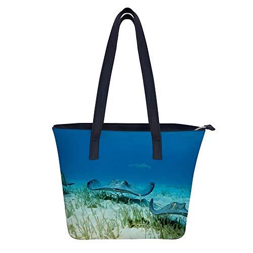 Bolsas de hombro para mujer con diseño de criatura subacuática, resistente al agua, bolsa de mano...