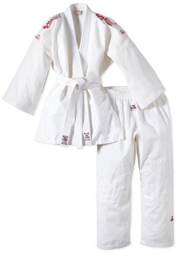 DanRho Judogi Yamanashi mit Schulterstreifen - Parte de arriba de traje de artes marciales, color blanco, talla DE: 170