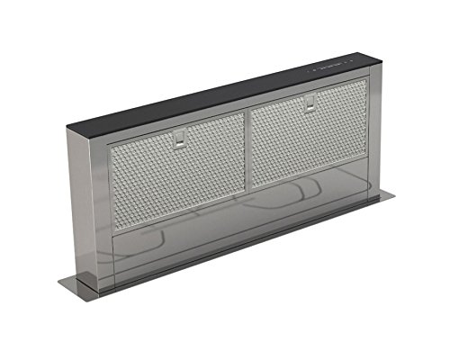 Küchen Tischhaube Dunstabzugshaube versenkbar 75W Umluft 700m³/h Edelstahl Glas *541331