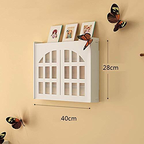 Drijvende planken, wandplank, houder, opslagplank, wit, meter, box ornament, elektrische rem, box blokkeren box, creatieve eenvoudige woning, 6 maten (kleur: e-57 x 44 cm) B-40 x 28 cm.