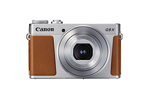 Canon PowerShot G9 X Mark II Kompaktkamera (20,1 MP, 7,5cm (3 Zoll) Display, DIGIC 7, optischer Bildstabilisator, Full-HD, WLAN, NFC, Bluetooth, Blendenautomatik; Zeitautomatik, 1080p), silber