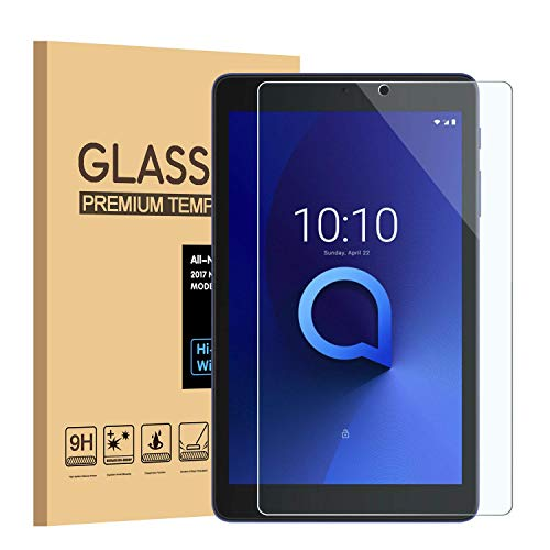(3-Pack) PULEN for Alcatel3T8'' and Alcatel Joy TAB 8'' Temepered Glass Screen Protector,HD ClearAnti-Scratch Bubble Free 9H Hardness Tempered Glass (8.0 Inch)