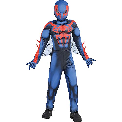 Suit Yourself Spider-Man 2099 Muscle Halloween Costume for Boys, Large, Includes Accessories