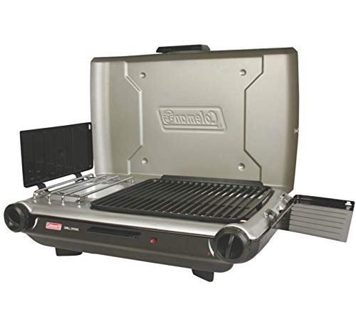 Coleman 2 Burner Camping Grill & Stove Combo