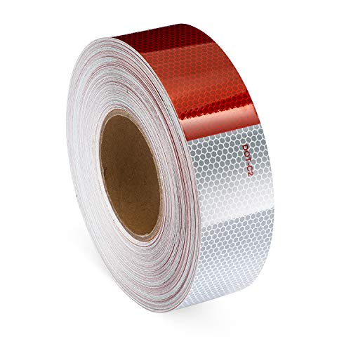 """Premium 2""""x150' DOT-C2 Reflective Tape, DOT reflective tape, DOT tape red white, DOT reflection tape, conspicuity tape, DOT tape, Super Bright and sticky, Daytime and night time visibility"""