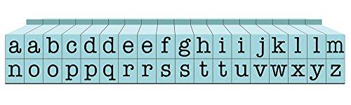 Contact USA Connectable Lowerase Stamp Small 36-Piece American Typewriter Pegz Alphabet-Stempel-Set, verbindbar, Pool Blue