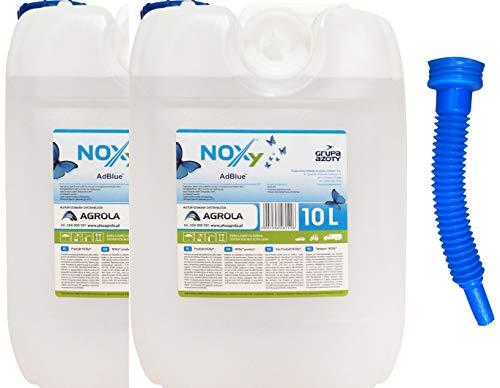 Gasfritzen Agrola 2 x 10 Liter (20 Liter) Kanister AdBlue Harnstofflösung Reduktionsmittel NOx für Diesel-Motoren mit Ausgießer [der Ausgießer befindet Sich hinter dem Aufkleber]