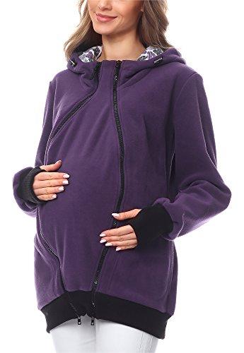 Bellivalini Premamá Sudadera con Capucha Maternidad Mujer BLV50-117 (Violeta, S)