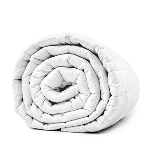 LEVIA Gewichtsdecke aus Baumwolle   Therapiedecke - Entspannungsdecke ohne Bezug   Made in Europe   Größe: 140 x 200 cm (5.5)