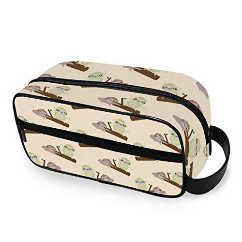 Outils Cosmétique Train Case Storage Happy Sloth Fun Travel Wallet Portable Makeup Bag Toiletry Pouch