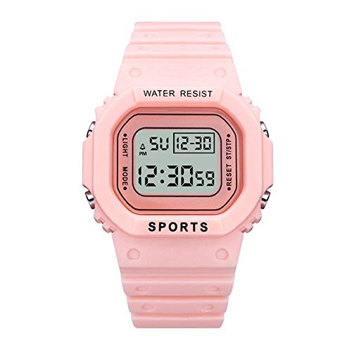 TIDRT Reloj Verde Digital De Lujo para Mujer, Relojes Multifunción A Prueba De Agua para Mujer, Reloj Unisex para Hombre, Relojes Deportivos Rectangulares para Niños
