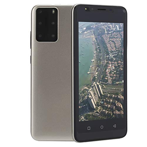 Sorandy Smartphone Sbloccato 3G, P48 Android Telefoni Cellulari in Offerta, Schermo HD da 5.0 Pollici, 512MB RAM + 4GB Rom, 128GB Espandibili Cellulare, Dual SIM Economici Telefoni Mobile(Oro)