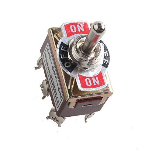 Mintice™ - Interrupteur à bascule en métal momentané ultra-résistant 20 A 125 V 15 A 250 V DPDT 6 terminal on/off/on