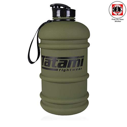 Tatami Fightwear Water Bottle 2.2L Khaki - XXL Trinkflasche Water Wasser Gallone Sportflasche mit Trinköffnung und Griff (BPA/DEHP frei) ideal für Fitness Kampfsport MMA Krafttraining