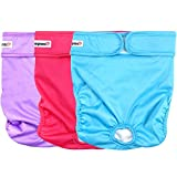 wegreeco Washable Reusable Premium Dog Diapers, Small, Bright Color, for Female...