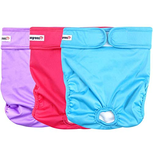 wegreeco Premium Diapers, Durable Reusable, for Female Dogs, Pack of 3