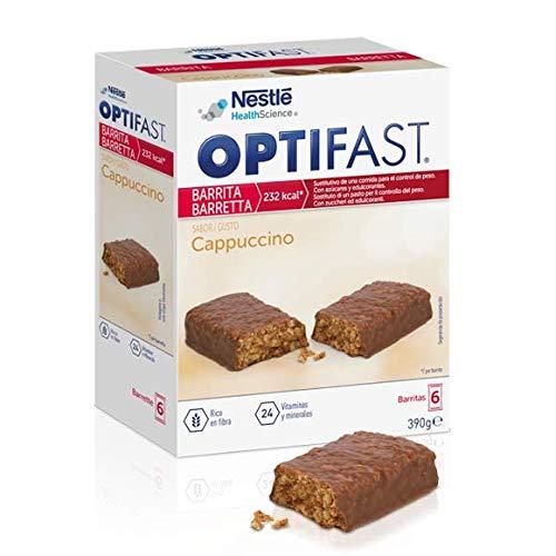 OPTIFAST home Diät Riegel Cappucino | eiweißreicher Mahlzeitenersatz mit wichtigen Vitaminen und Mineralstoffen | schnell und lecker | von Nestlé Health Science | 6 x 70g