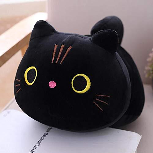 TinaDeer Black Cat Plush Toy Kitten Doll, Plush Stuffed Cute Animal Kitten...