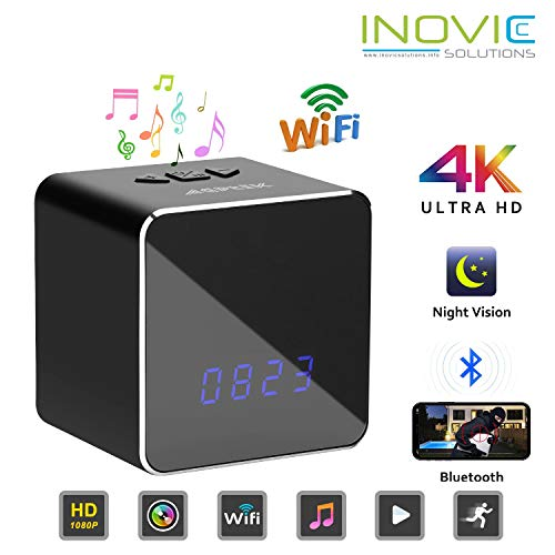 Inovics Spy 4K Bluetooth Speaker Camera with...