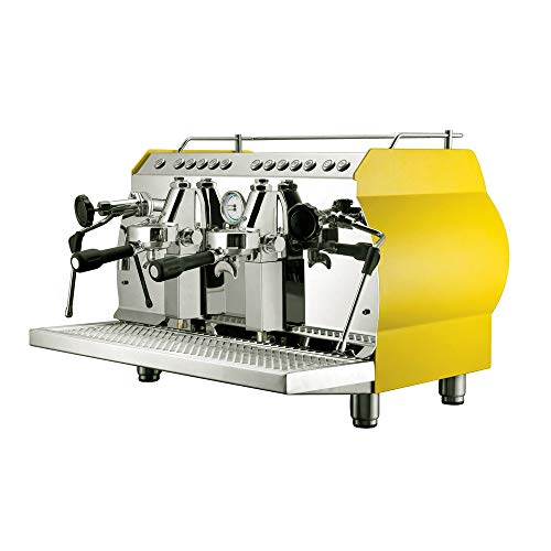220 Volts KC-11.2H Semi-automatic Espresso Machine, 2 group commercial coffee maker, with cup warmer