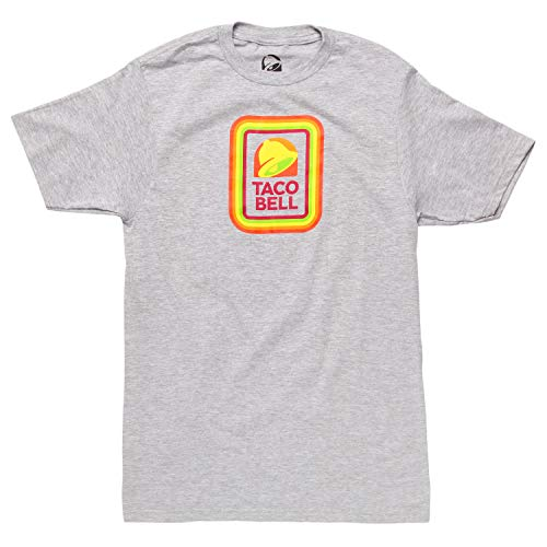 Taco Bell Square Logo Adult T-Shirt - Heather Grey (X-Large)