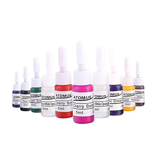 10 colores de tinta del tatuaje pintura corporal microblading ceja maquillaje permanente del tatuaje conjunto de tinta