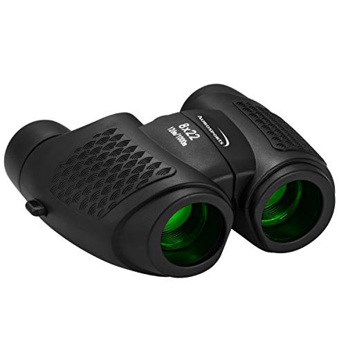 Aurosports Kids Auto Focus Binoculars with High Resolution, Shockproof 8x22 Binoculars Safe for Children, Christmas Birthday Present Best Toy Gifts for Hiking Camping Bird Watching Traveling(Black)