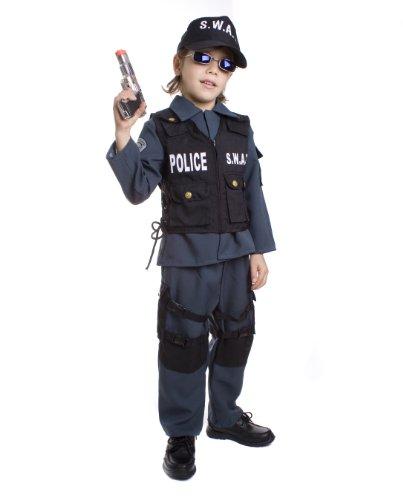 Dress Up America De Lujo para nios S.W.A.T. Disfraz de Oficial de polica