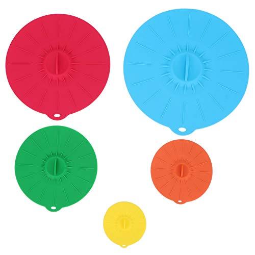 Omabeta Tapa de Placa Cubierta de Cuenco Calefactor Resistente al Calor Cubierta de Cuenco Silicona no tóxica para Utensilios de Cocina para el hogar Cuenco de Horno