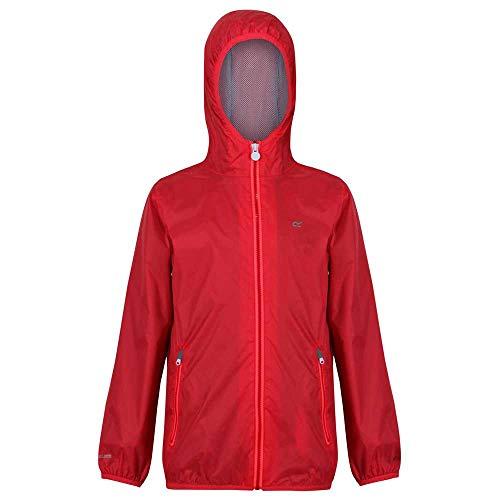 Regatta Ciré Technique Junior Lever II Jackets Waterproof Shell Mixte Enfant, Coral Blush, FR : M (Taille Fabricant : 5-6)