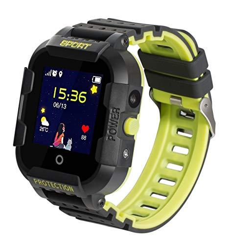 JBC GPS-Telefon Kinder Uhr Kleiner Weltentdecker-schwarz-Wasserdicht OHNE Abhörfunktion, SOS+Notruf+Telefonfunktion, Live GPS+LBS Positionierung, funktioniert weltweit,Anleitung+App+Support in deutsch