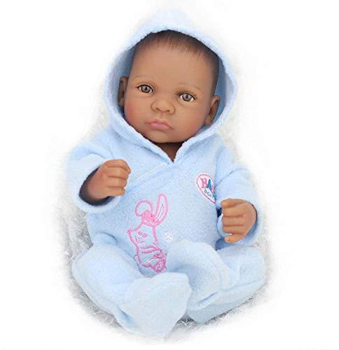 NMQQ Reborn Baby Boy Dolls 10 Zoll Weiche Silikon Vinyl Lebensechte Früherziehung Puppe Neugeborenen Realistische Babys Spielzeug Geschenk