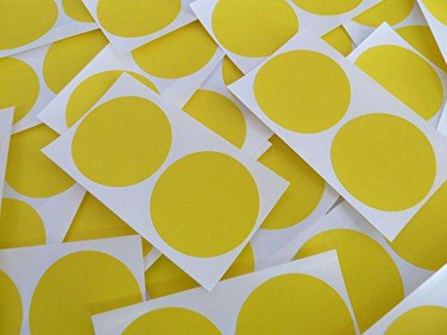 50Stück 50mm (5cm) rund selbstklebend Sticky Dot Etiketten, farbige Aufkleber–Yellow Circles (50Stück)