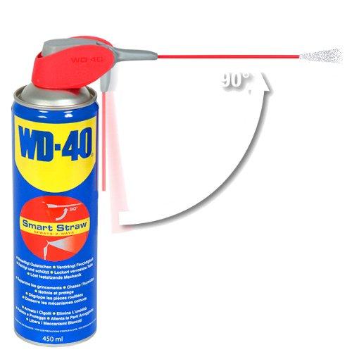 WD-40 Multifunktionsspray, Kontakt-, Teflon-Schmiermittel, Fahrrad-, Bike-, Auto-, Ketten-, Motorrad-Spray, 450-Ml Sprühdose, Smart-Straw, Blau - 3