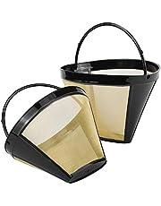 Återanvändbart kaffefilter permanent kaffe nät korg kopp kon stil 6 till 12 koppar tvättbar storlek 4 hushåll kaffefilter