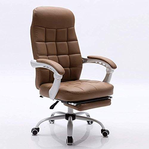 N/Z Home Equipment Gaming Chair High Back Racing PC Computer Desk Office Chair Swivel Ergonomic Executive Leather Chair with Footrest and Adjustable Armrests Can Lie Flat (Color : Brown)