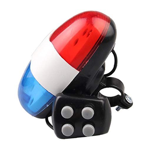 Fahrrad Elektronisches Horn Rücklicht Für Elektronisches Fahrrad-licht Mit 4 Tönen Laut Polizei Sirene Fahrrad Trompete Radfahren Horn-Bell-licht 1pc