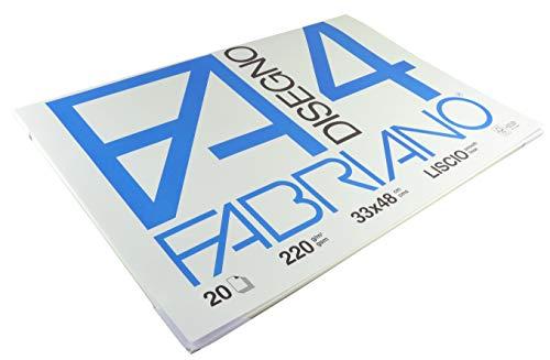 Fabriano F4 05200797, Album da Disegno, Formato 33 x 48 cm, Fogli Lisci, Grammatura 220gr/m2, 20 Fogli