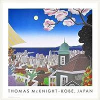 ポスター トーマス マックナイト 神戸 日本 額装品 ウッドベーシックフレーム(ホワイト)