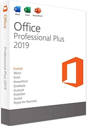 MS Office 2019 Professional Plus 32/64 Bit - Original-Lizenzschlüssel | Lieferung 1h-24h per E-Mail und Amazon neue Nachricht