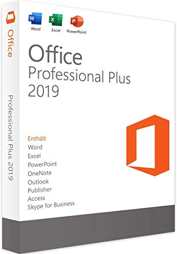 MS Office 2019 Professional Plus 32/64 Bit - Original-Lizenzschlüssel   Lieferung 1h-24h per E-Mail und Amazon neue Nachricht