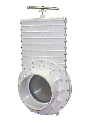"Valterra 6910 PVC Gate Valve, White, 10"" Slip from Valterra Products"