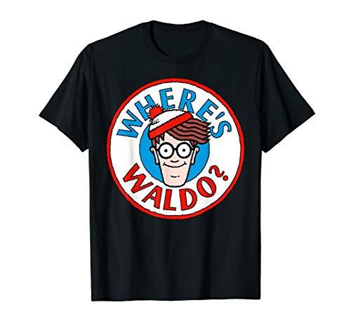 Where's Waldo Head Portrait Circle Logo Graphic T-Shirt