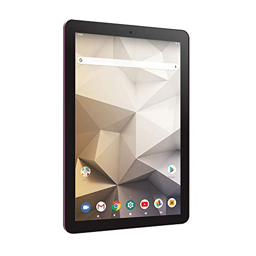 """RCA Tablet Quad-Core 2GB RAM 32GB Storage IPS HD Touchscreen WiFi Bluetooth with Detachable Keyboard Android 9 Pie (10"""", Burgundy)"""