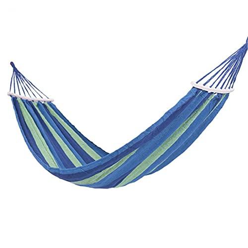 Tuimiyisou Hamaca Silla, Sillón Hamaca Relax Oscilación Colgante Presidente Algodón De Ligamento Forcamping, Senderismo, Viajes Y Jardín (Azul)