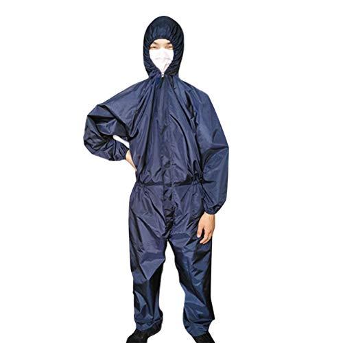 Artibetter Tuta Protettiva Riutilizzabile Tuta Protettiva Antistatica Abiti da Lavoro per Clinica Taglia XXXL (Blu Scuro)