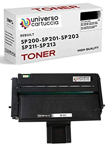UniversoCartuccia Toner Nuovo Compatibile per Stampanti Ricoh Aficio SP211 SP213W SP200 SP201 SP202 SP203 SP204 SP210 SP212, 407254 (2.600 copie al 5%)